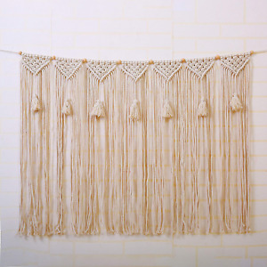 Macrame Wall Hanging Tapestry Large Bohemian Decoration Curtain Fringe Garland
