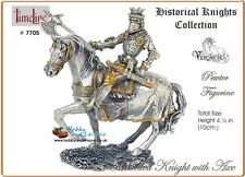 Pewter Medieval Knight w/ Axe 4.25in Veronese Historical Knights Collection 7705