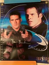 Farscape Ben Browder Signed Banner 19.5� X 16� from Farscape convention 2006