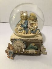 """The San Francisco Music Box Company, Snow Globe """"Sisters First, Friends Forever�"""