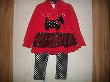 Toddler GirlsYoung Hearts 3 Piece Set (Scottish Dog) New Size 5T Retail $48.00