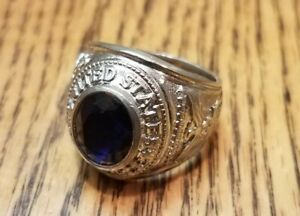 Sterling Silver United States Air Force Military Ring size unknown