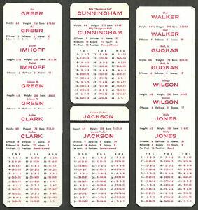 Philadelphia 76ers APBA 10 Card Team Set 1968-69 Season Hal Greer Archie Clark