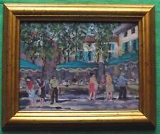 Market in Provence  Framed Original Impressionist Oil Painting by David Baxter