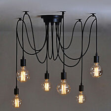 retro lighting. Vintage DIY Ceiling Spider Lamp Light Pendant Lighting Ajustable Multiple 6/8/10 Retro O
