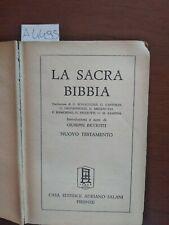 La sacra Bibbia Nuovo testamento ricciotti