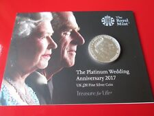 2017 Platinum Wedding UK £20 Fine Silver Coin MINT CONDITION