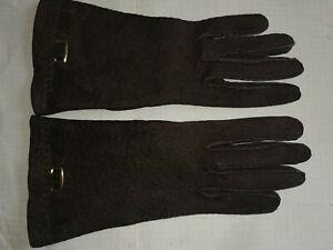 Handschuhe Peccary Leder Damen Größe 6 3/4 6,5 Luxus nr40
