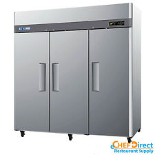 "Turbo Air M3F72-3-N 78"" 3 Door Reach-In Freezer"