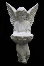 Angel Holding Holy Water Font Italian Catholic Statue Sculpture Made in Italy
