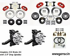 "Wilwood Brake Kit 1963-1986 Chevy C10,13"" Rotors,Red Calipers,2.5"" Drop Spindles"