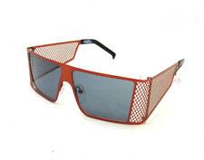 NEW Authentic JEREMY SCOTT X LINDA FARROW  Corner Office Sunglasses Burnt Orange