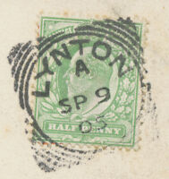 "GB ""LYNTON"" Squared Circle Postmark (Cohen Type I SC) superb strike on VF pc"
