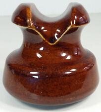 Pinco Amber Brown Glazed Porcelain Insulator U-488