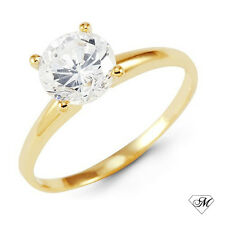 14k Yellow Gold 0.25 CT DIAMOND SOLITAIRE Engagement RING Natural Round NEW