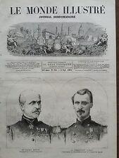 LE MONDE ILLUSTRE 1871 N 752 LES PRUSSIENS EN FRANCE, SAINT-DENIS LE SOIR