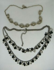 MIXED LOT OF NECKLACES Silver Tone