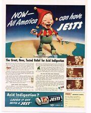 1940 Jests Antacid Mints Stomach Acid Indigestion Relief Vtg Print Ad