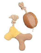 Hundespielzeug Knochen und Ball Kuschelspielzeug aus Naturmaterialien ca. 20 cm