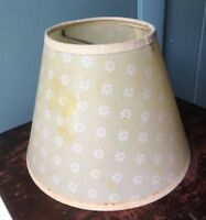 "Vintage Mid Century Plastic floral Lamp Shade 6"" Clip-On"