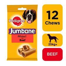 12x210g Pedigree Jumbone Large Dog Treats with Beef 12 Dog Chews