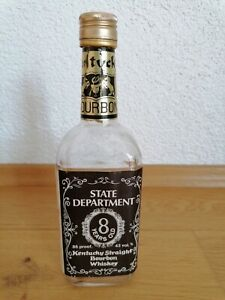 State Department 8 Years Old Kentucky Straight Bourbon Whiskey Empty Bottle