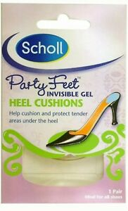 SCHOLL PARTY FEET INVISIBLE GEL HEEL CUSHIONS