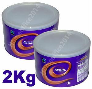 2 x 1Kg Cadbury Hot Chocolate Drinking Choc 2kg