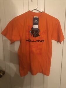 Holland The Netherlands Lion T Shirt - Youth 14 - Orange - NWT