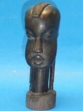 Fantastic Gwandusu Nubian Carved Wood Head * African Tribal Girl