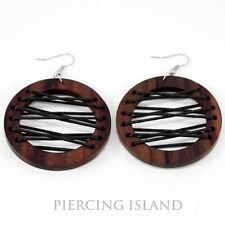 Ohrringe Handarbeit Goa Design Holz Wood Earrings Schmuck ER196
