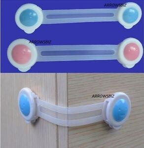 Kids Baby Child Door Drawer Fridge Kitchen Toilet Cabinet Cupboard Safety Lock