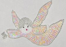 "Decorative Fancy Craft 5 3/4"" Bead Sequin ANGEL Patch"
