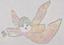 "Decorative Fancy Craft 5 3/4"" Bead Sequin ANGEL Patch"