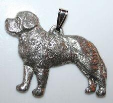Saint Bernard St Bernard Dog Harris Fine Pewter Pendant Usa Made