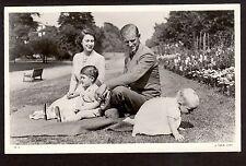 c1951 Tuck real photo Elizabeth,Philip,Charles & Baby Anne Royalty UK postcard