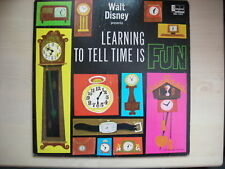 Disney Presents LEARNING TO TELL TIME IS FUN LP 1964