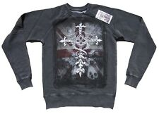Amplified SAINT & SINNERS Gothique Cross Croix Vintage Sweat pull haut S/M
