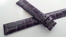 Van Der Bauwede watch band 16mm/14mm purple alligator Geneve 115/75mm lengths -