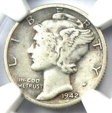 1942/1-D Mercury Dime 10C - Certified NGC VF30 - Rare Overdate Variety Coin!
