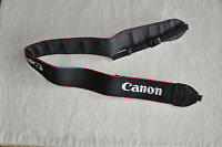 CANON  BLACK/RED/WHITE GENUINE SHOULDER NECK STRAP FOR DSLR/SLR CAMERA USED