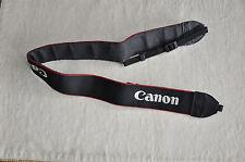 CANON  BLACK/RED/WHITE GENUINE SHOULDER NECK STRAP FOR DSLR/SLR CAMERA USED