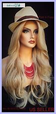 Lace Front Wig CLR T27.613 BLOND LONG FLOWING WAVES SEXY FASTSHIP US SELLER 273