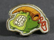 1994 Hanna Barbera The Flintstones TELEPHONE silver trim pin 2.5 x 2 cm. VHTF