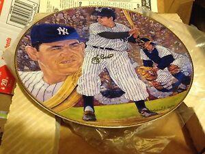 Yogi Berra NY YANKEES Personally Signed Autographed Gartlan Plate 1990 (5 avail)