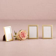 Easel Back Mini Photo Frames Matte Gold Set of 15 Wedding Favor Weddingstar