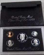 10 - 1992-S  U.S. Mint Silver Proof Sets with Original Box and COA - 5 Coins-NEW