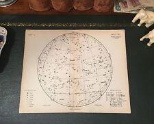 Rare Original 1880 Antique Celestial Astronomy STAR MAP Leo Cancer Virgo Gemini