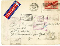 US Stamps Unusual 1943 Flown A.P.O Cover w/improper address