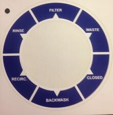 Sand Filter Multi Port Valve - Label Plate / Decal Replacement Sticker.